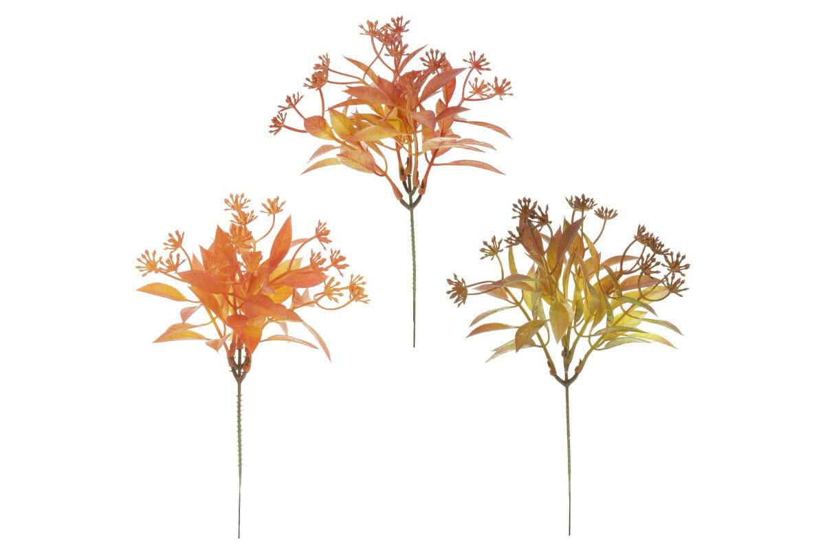 Trs, mix 3 podzimních barev, (baleno ve svazku 6ks).