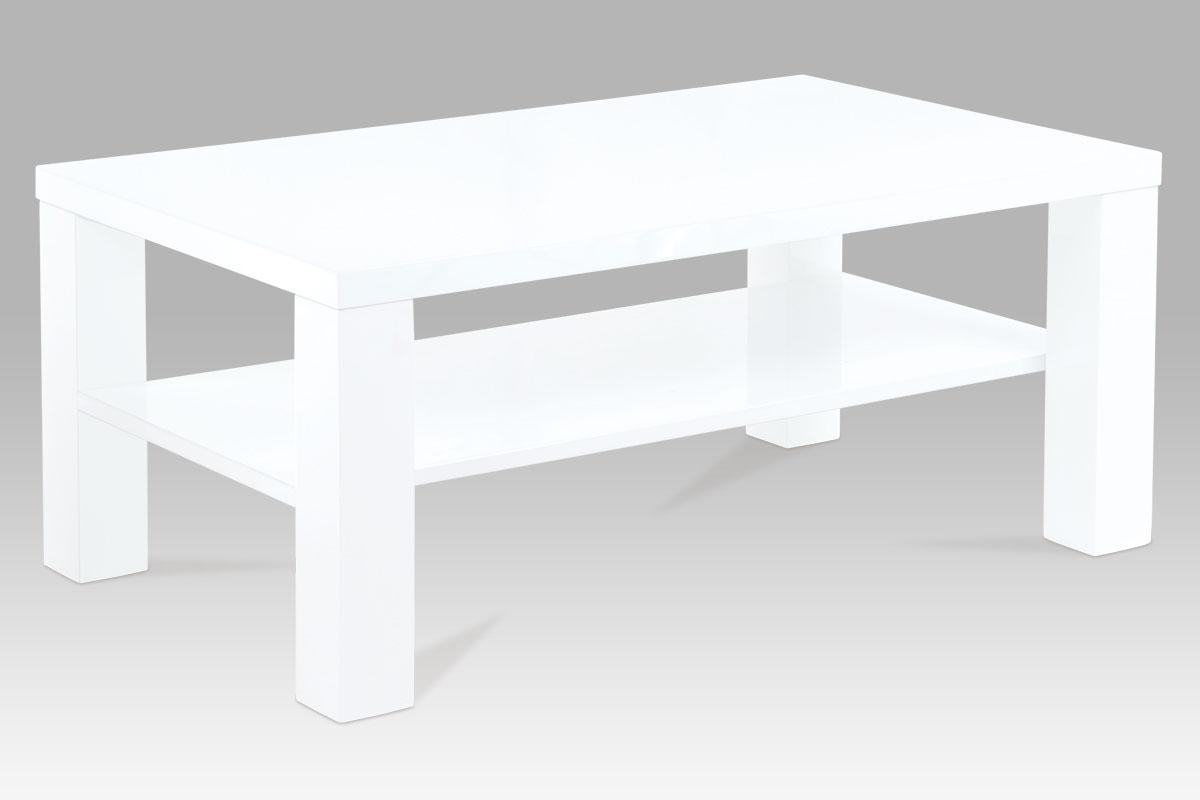 konferenčný stolík, 8x8 nohy biely vysoký lesk, 35/18mm biely vysoký lesk