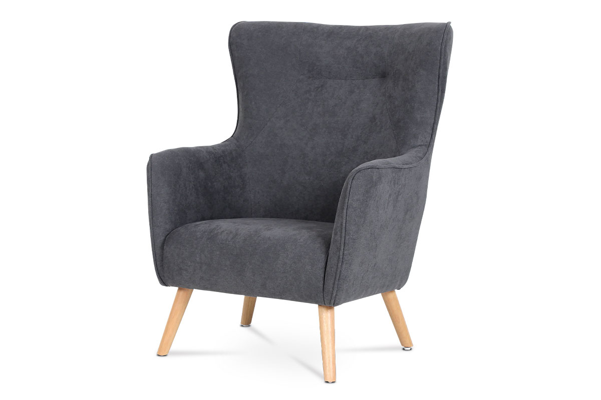 ARMCHAIR 263-21 GREY FABRIC  NATURAL LEGS