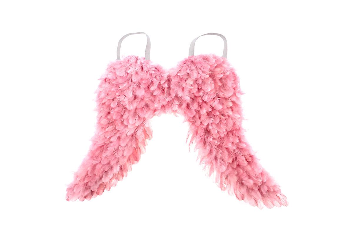 Andělská křídla z peří , barva růžová