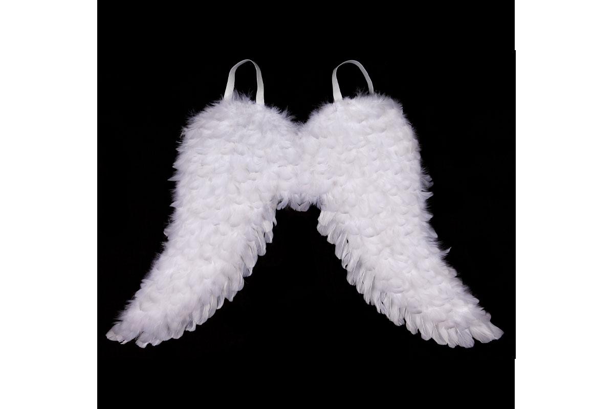 Andělská křídla z peří , barva bílá