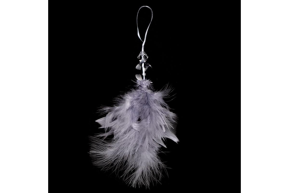 Anjelik z peria, závesný, farba sivá, 6 ks v balení, cena za 1 ks