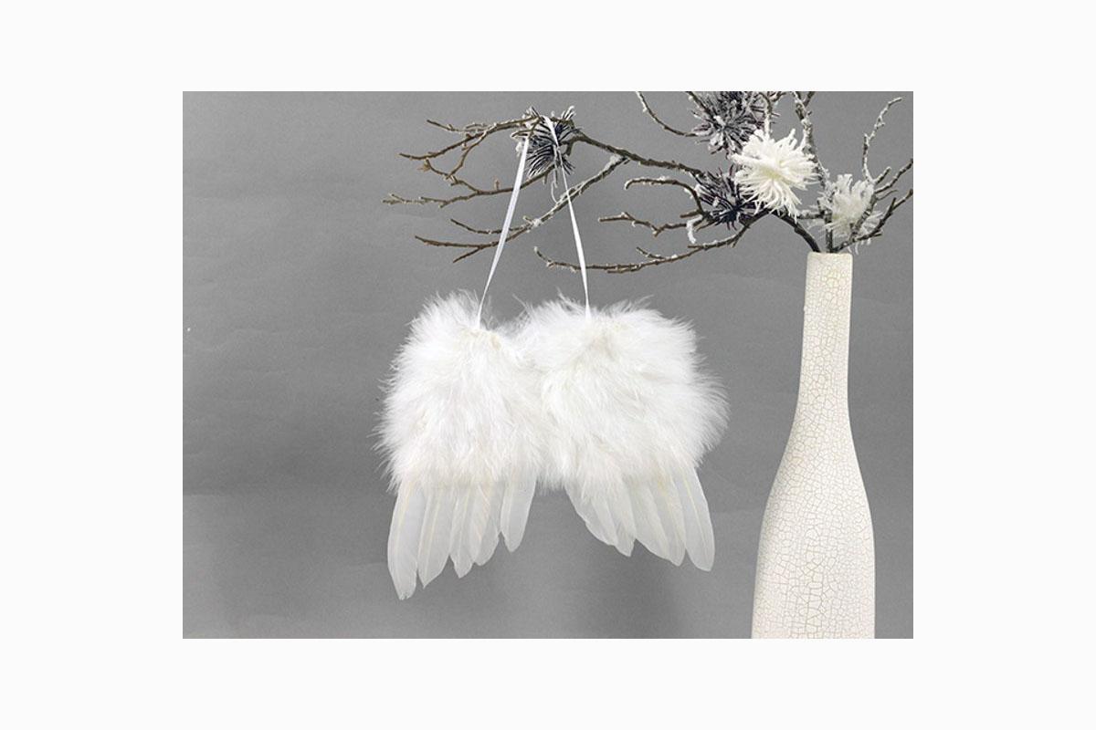 Anjelské krídla z peria, farba viela, 4 ks v balení, cena za 1 ks