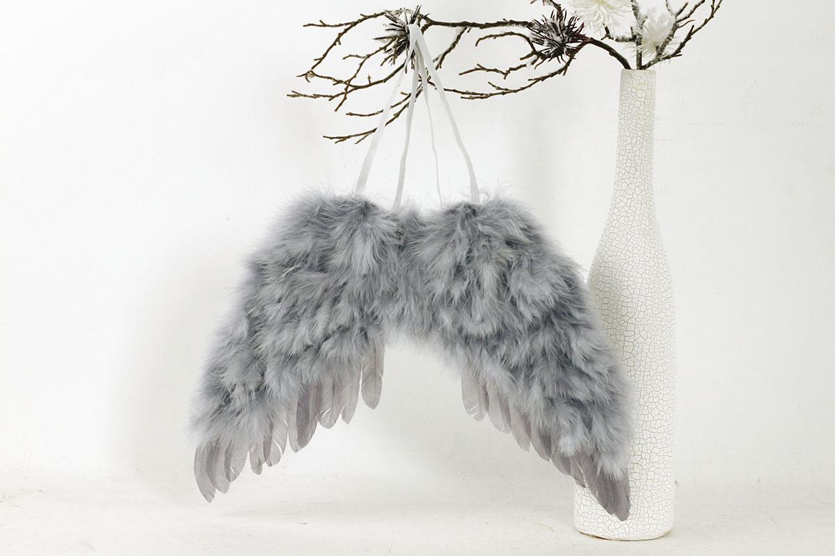 Anjelské krídla, farba sivá