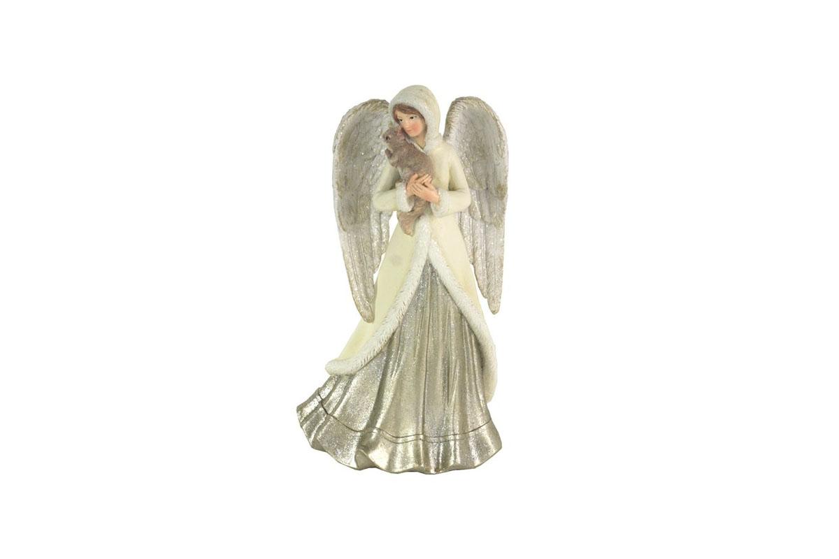 Anděl, dekorace z polyresinu