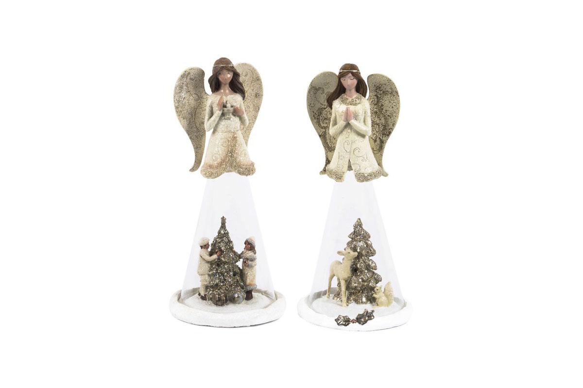 Anjel z polyresinu, mix 2 tvarov, cena za 1 ks