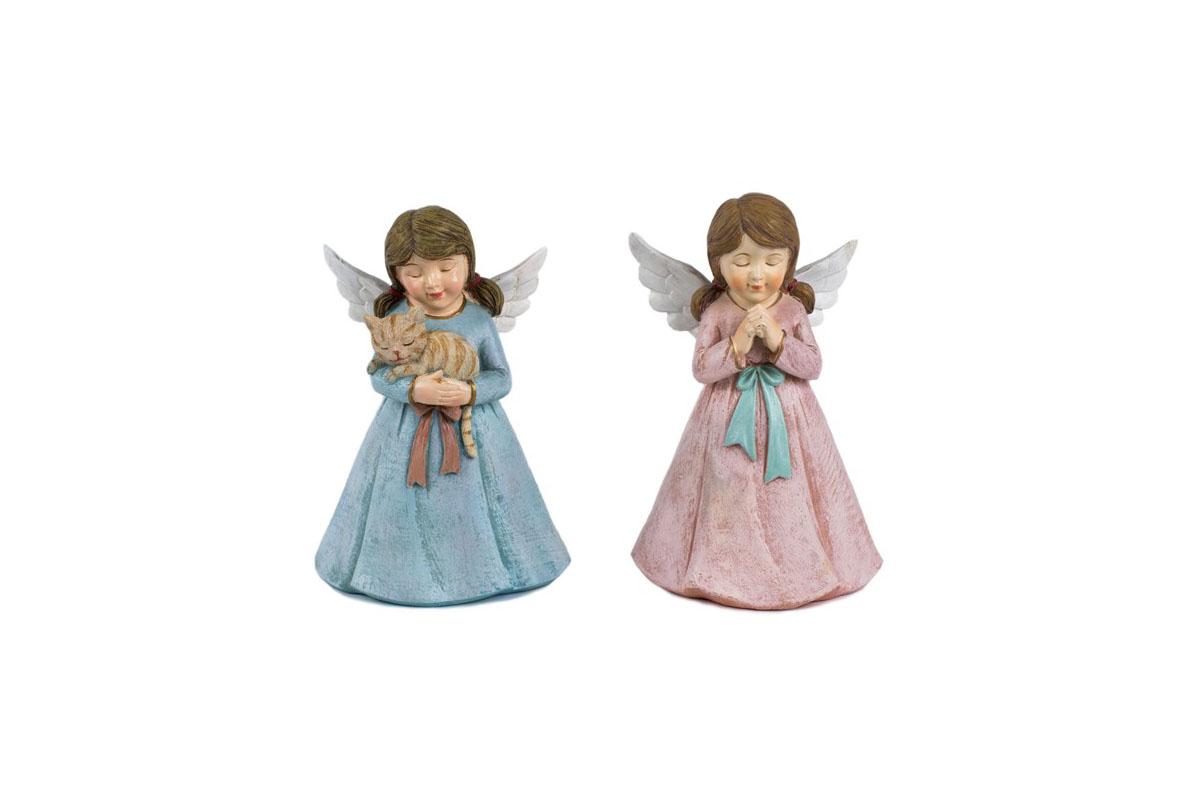 Anjel, dekorácia z polyresinu, mix 2 tvarov, cena za 1 ks