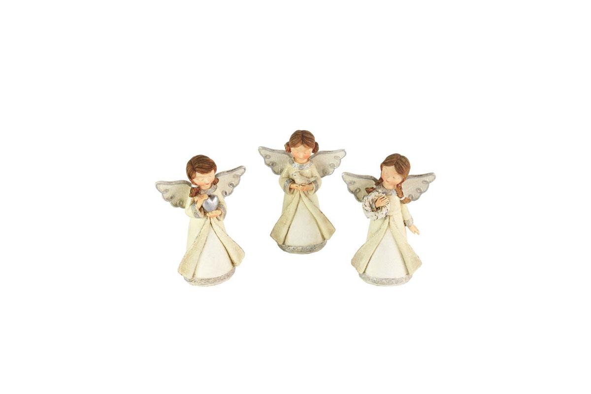 Anjel z polyresinu, mix 3 tvarov, cena za 1 ks