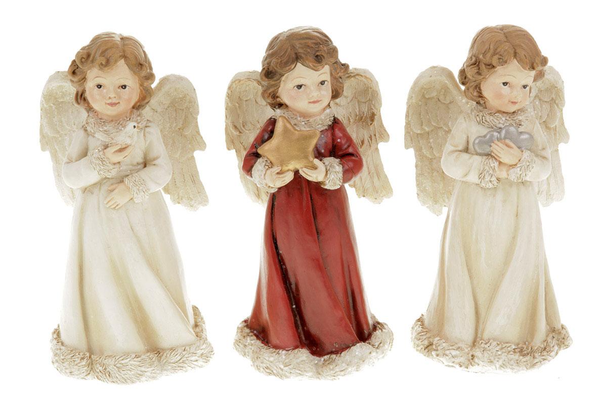 Anděl, vánoční dekorace z polyresinu,mix 3 tvarů, cena za 1 kus