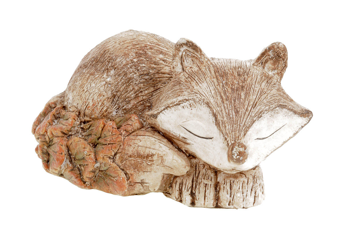 Liška, polyresinová dekorace