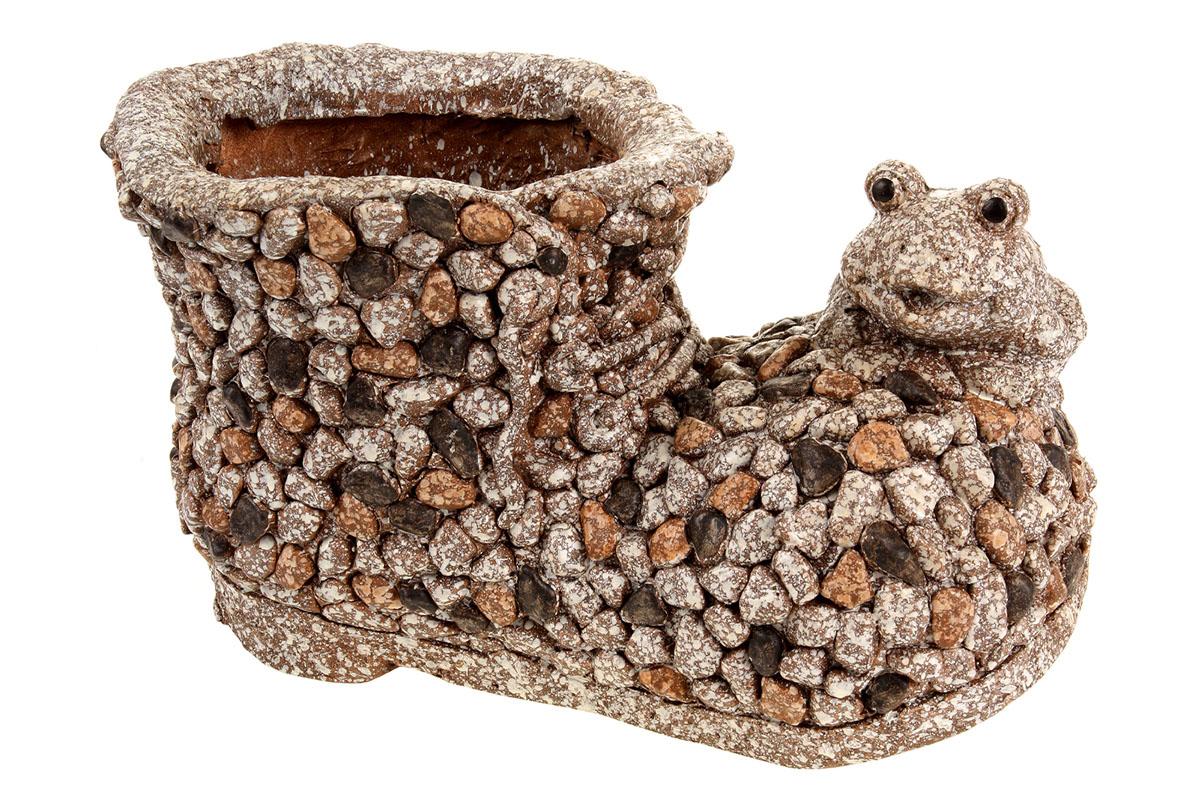 Sova, dekorace z MgO keramiky s otvorem na květináč