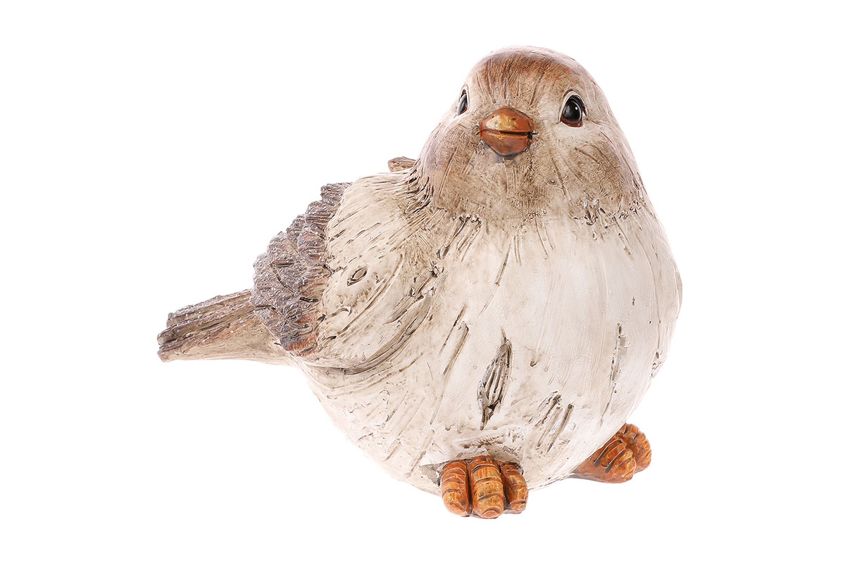 Ptáček z polyresinu.