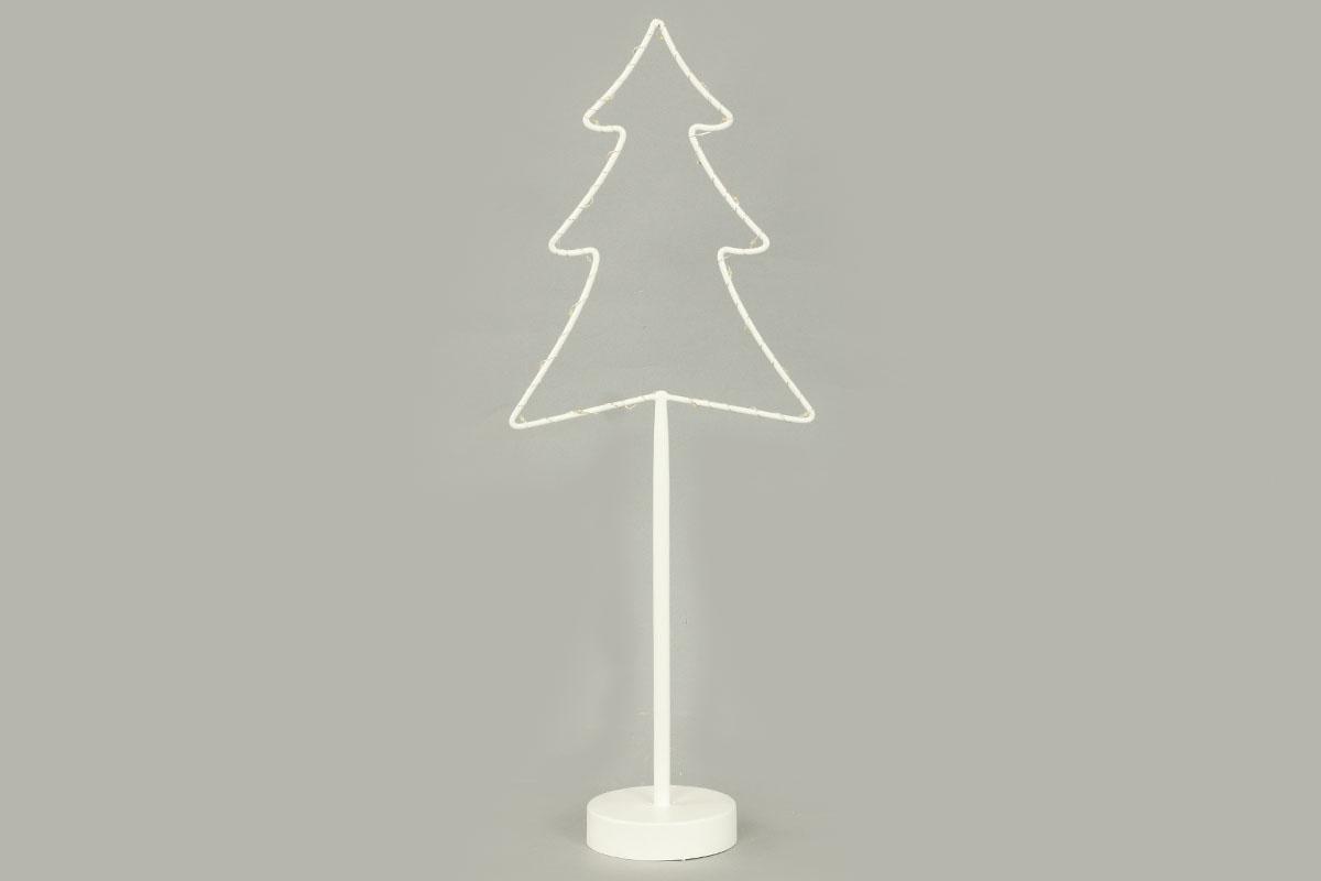 Stromeček, vánoční kovová dekorace s LED světlem