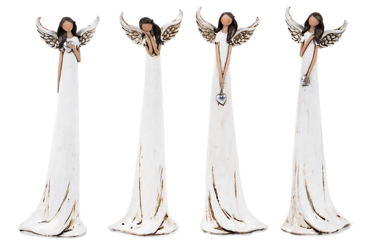 Anjel, dekorácia z polyresinu, mix 4 tvarov, cena za 1 ks