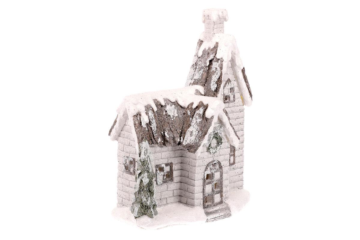 Domek, svítící vánoční dekorace, MgO keramika