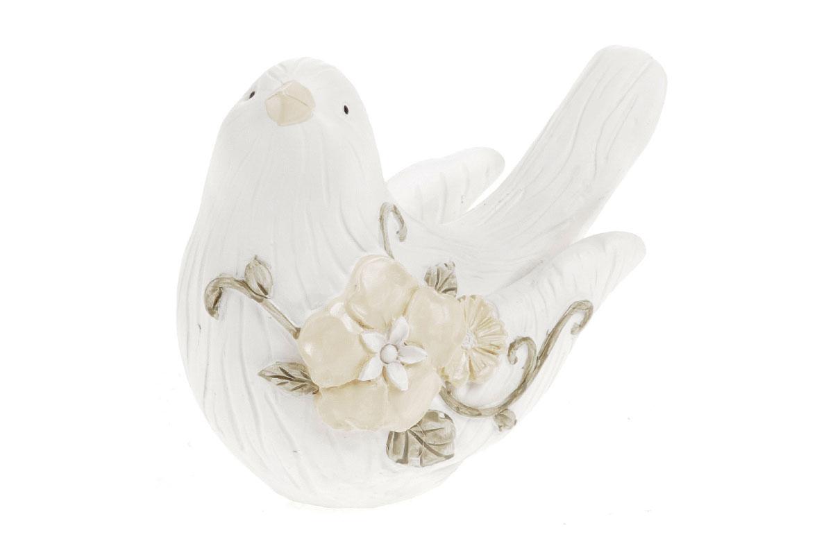 Ptáček z polyresinu barva bílá