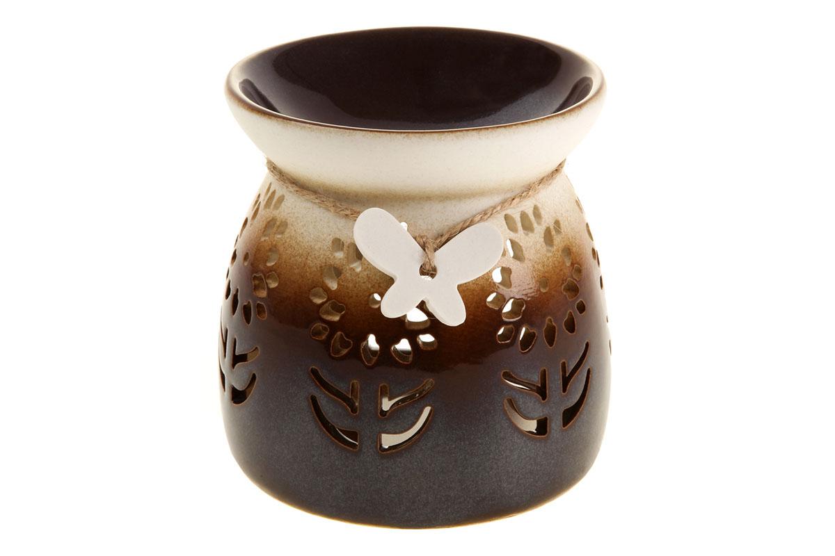 Aroma lampa porcelánová,  barva hnědo-béžová