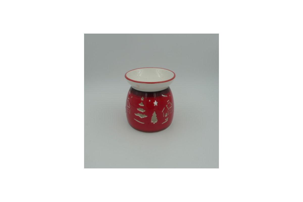 Aroma lampa keramická, barva červená