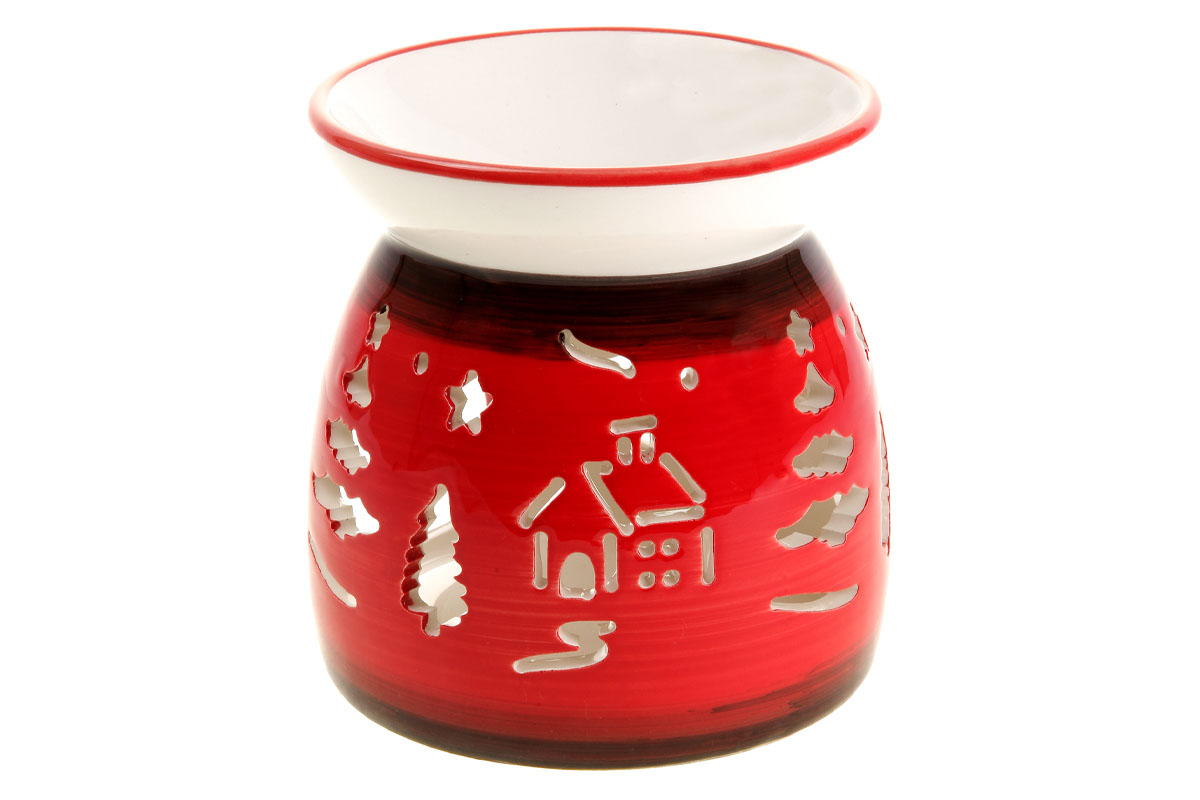 Aroma lampa keramická, farba červená