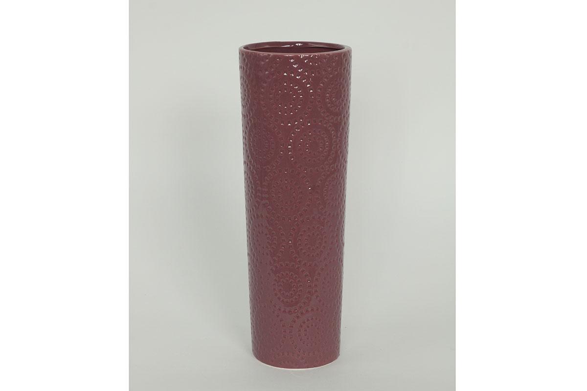 Váza keramická, barva fialová