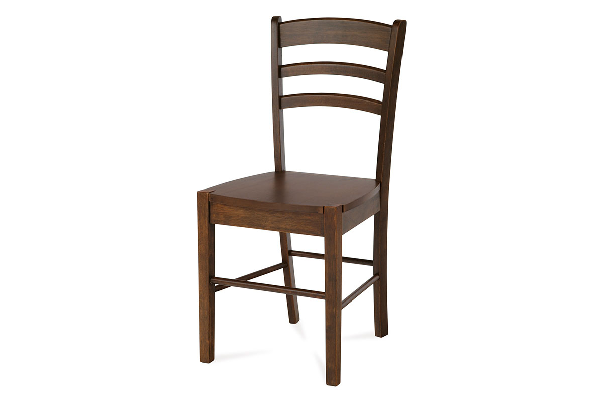 jedálenská stolička, orech/sedák drevený