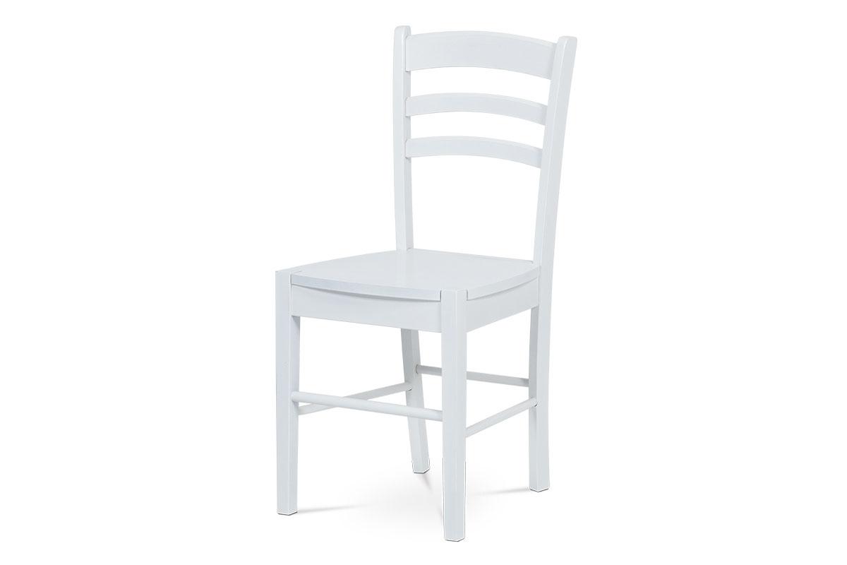 jedálenská stolička, biela/sedák drevený