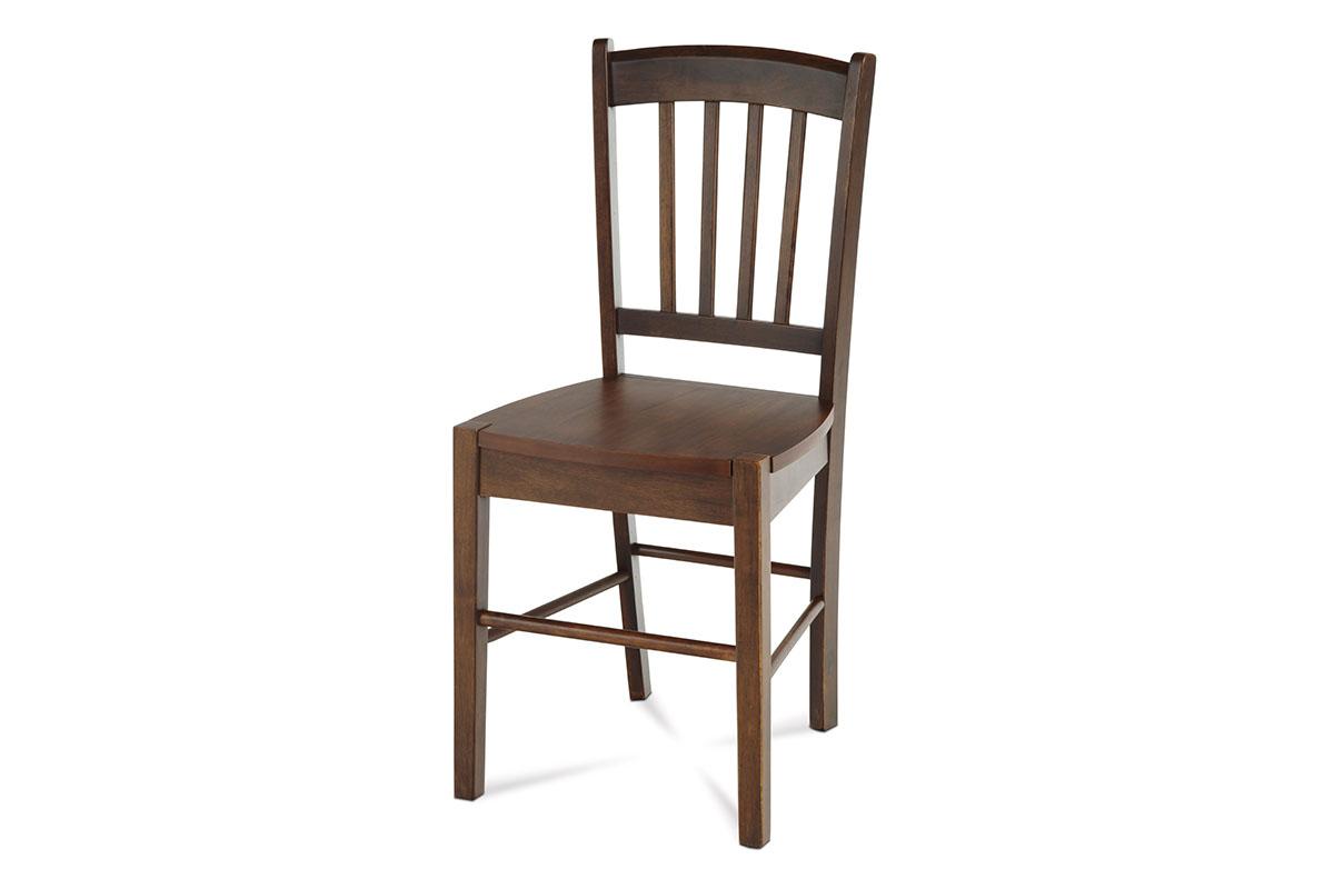 jedálenská stolička, orech/sedák drevený-AUC-005 WAL