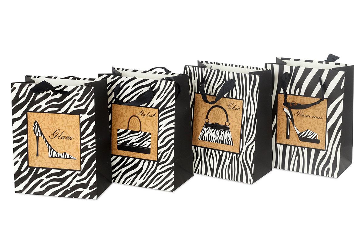 Papierová taška, mix 4 druhov
