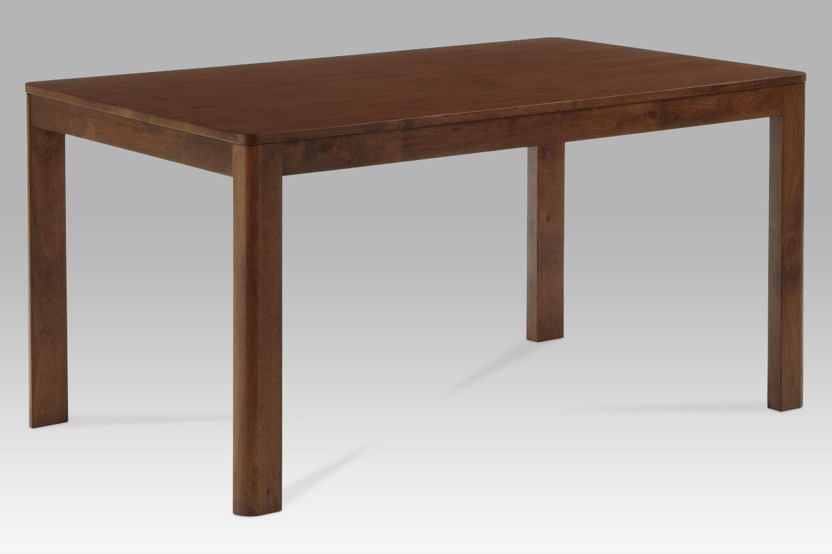 Dining table 150x90cm T20mm, solid rubberwood, leg 65mm w/ round edge, walnut 5353