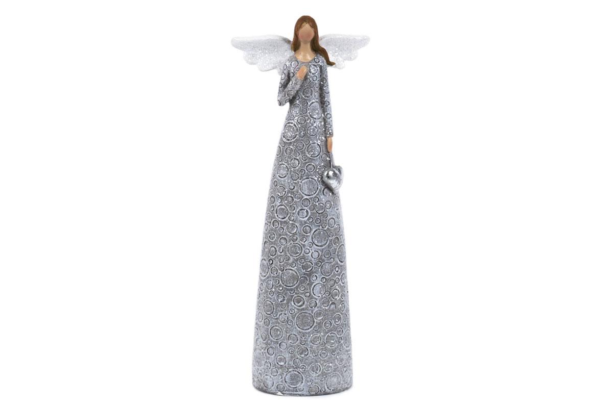 Anjel, dekorácia z polyresinu