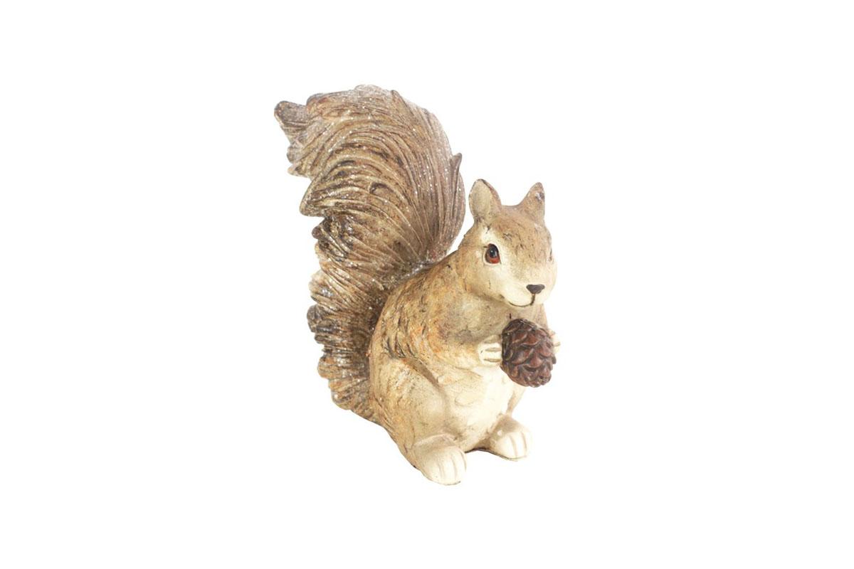 Veverička,dekorácia z polyrezinu