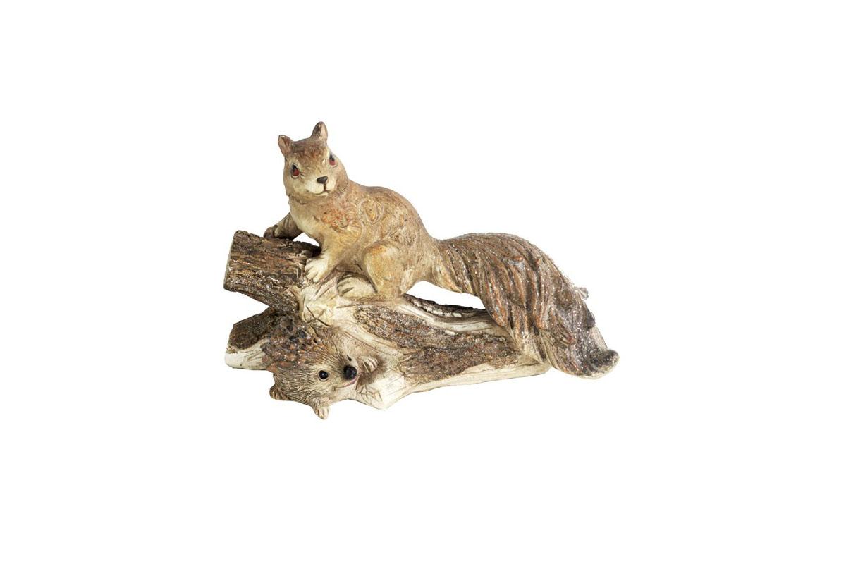 Veverička, dekorácia z polyrezinu