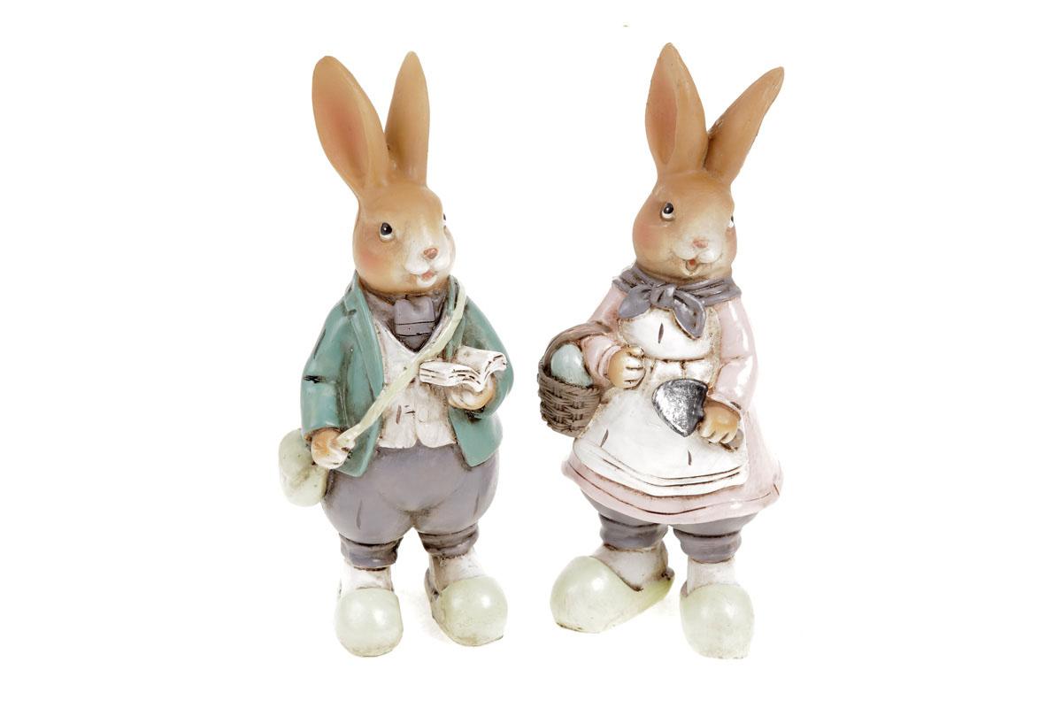 Zajíc nebo zaječice, polyresinová dekorace, cena za jeden kus