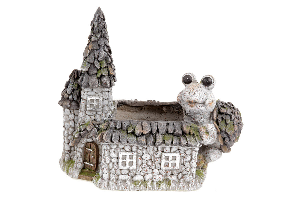 Domeček,dekorace z MgO keramiky s otvorem na květináč