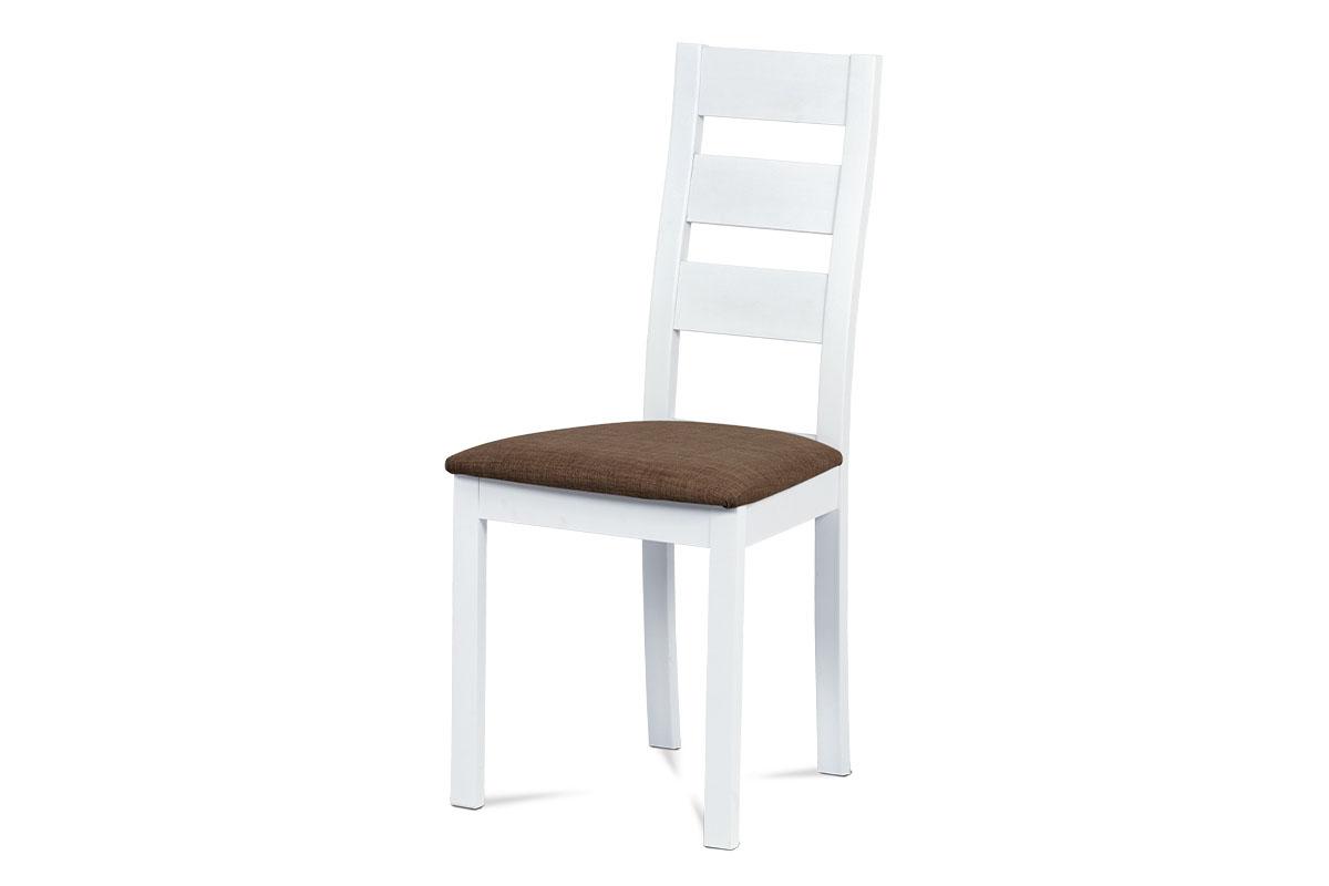 jedálenská stolička, masív biely-BC-2603 WT