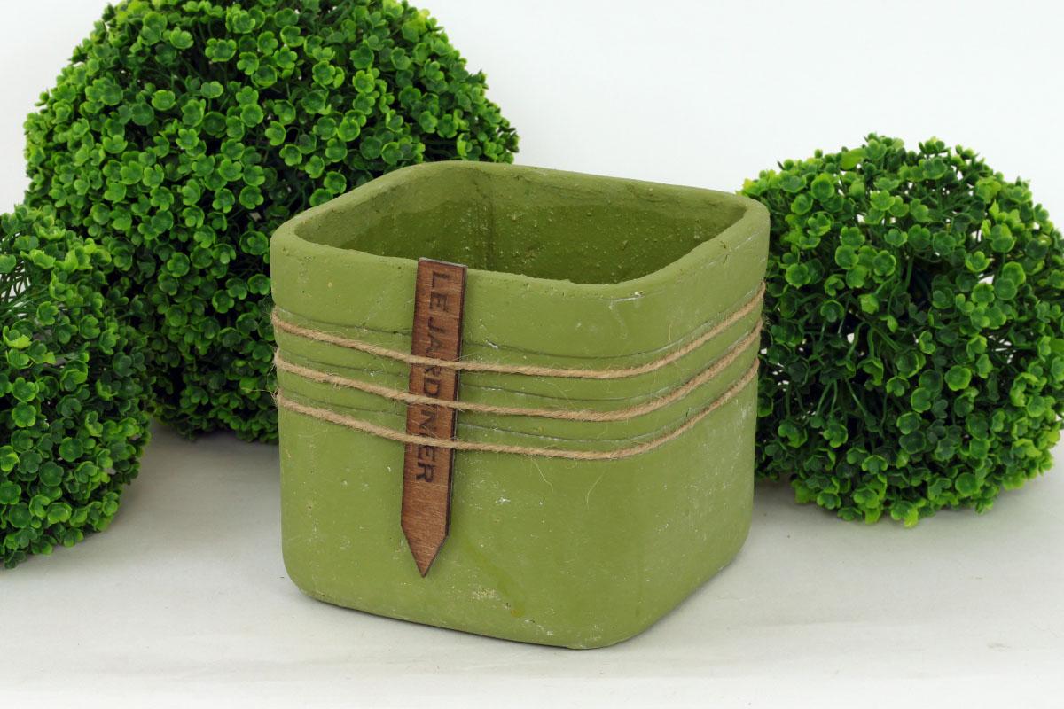 Obal betonový, barva zelená