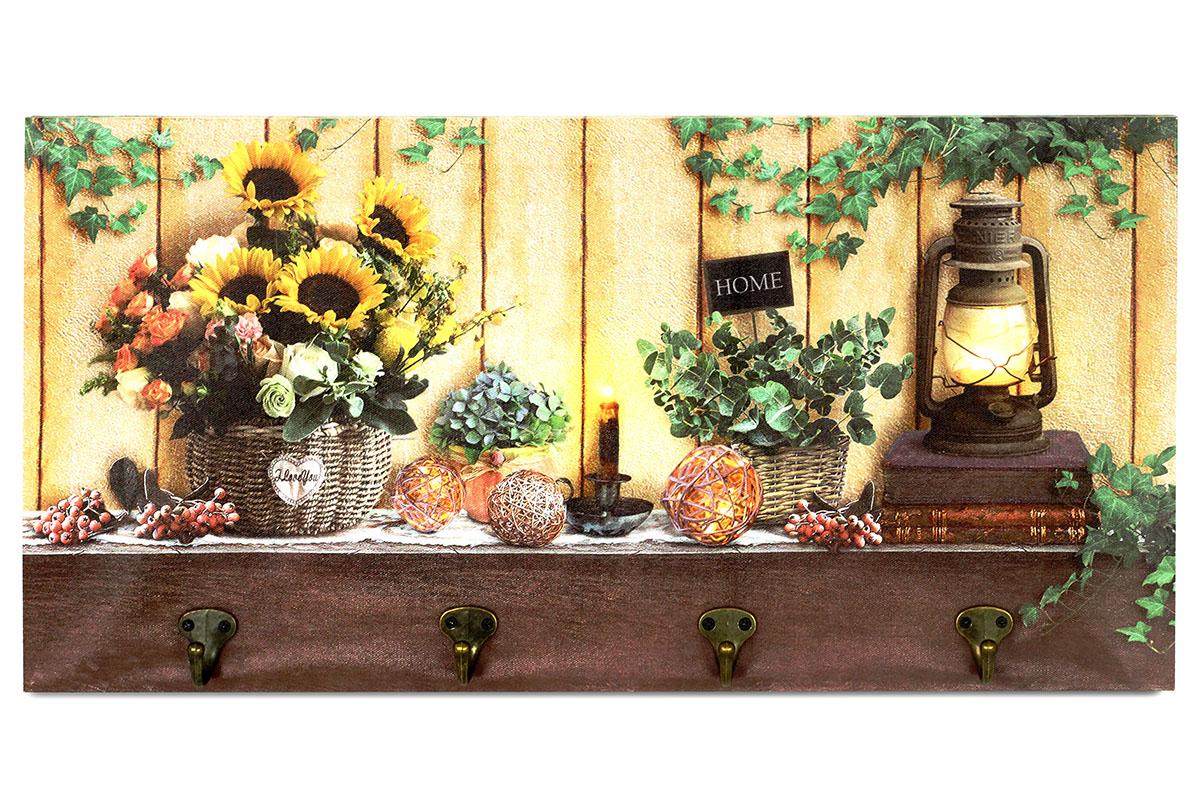 Obraz s háčky, nástěnná svítící dekorace - 4 ks LED.BD532