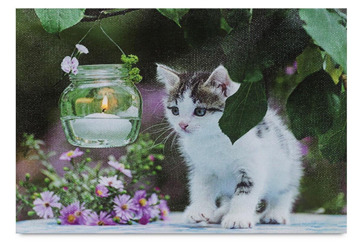 Obraz, dekorace se stojánkem, svíticí - 1 ks LED.