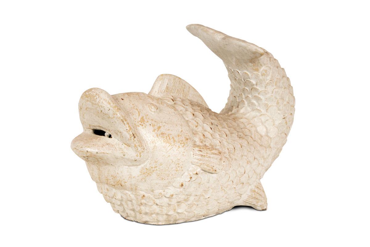 Ryba keramická, barva bílá