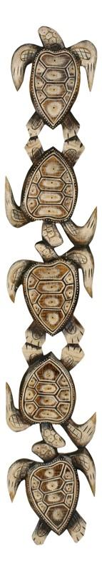 Drevený relief - korytnačky