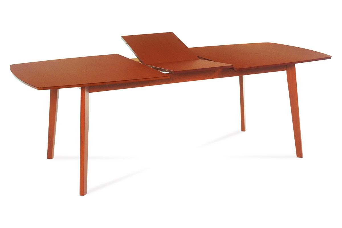jedálenský stôl rozkladací 180+44x100 farba čerešňa/nohy masív, doska dýha