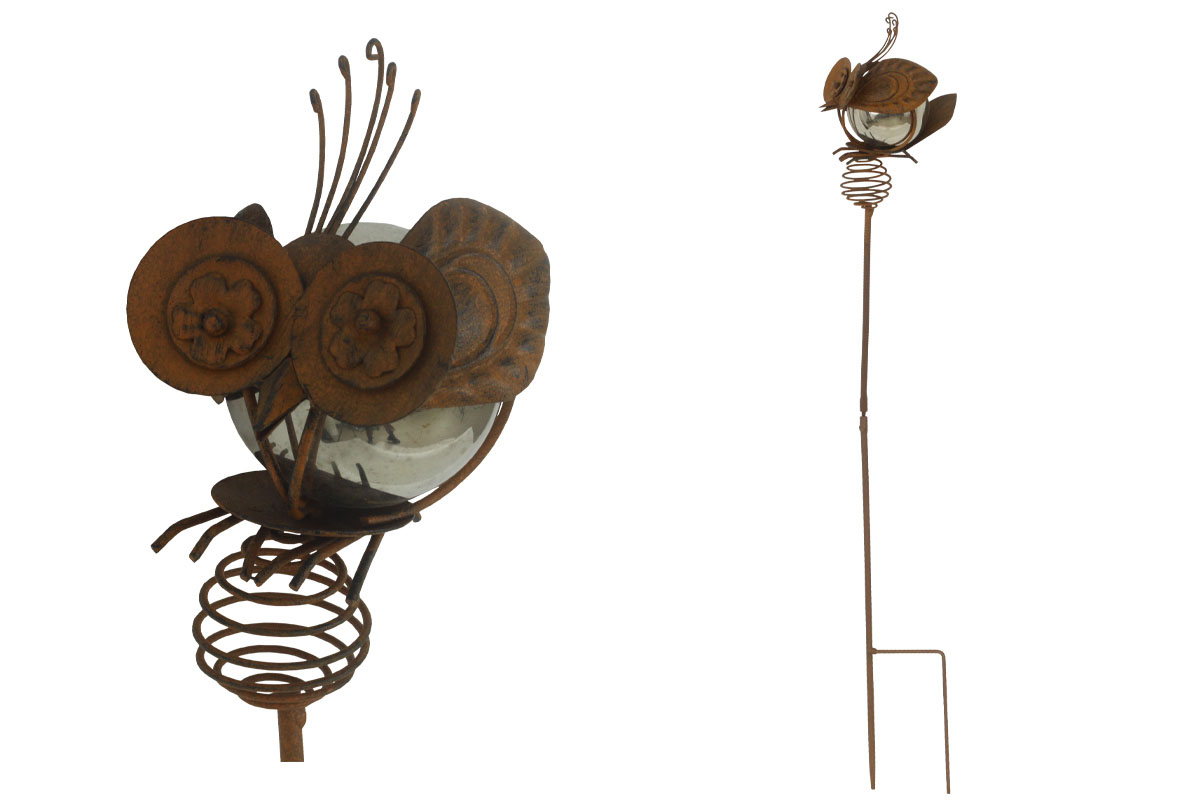 Včelka, zápich, kovová dekorace