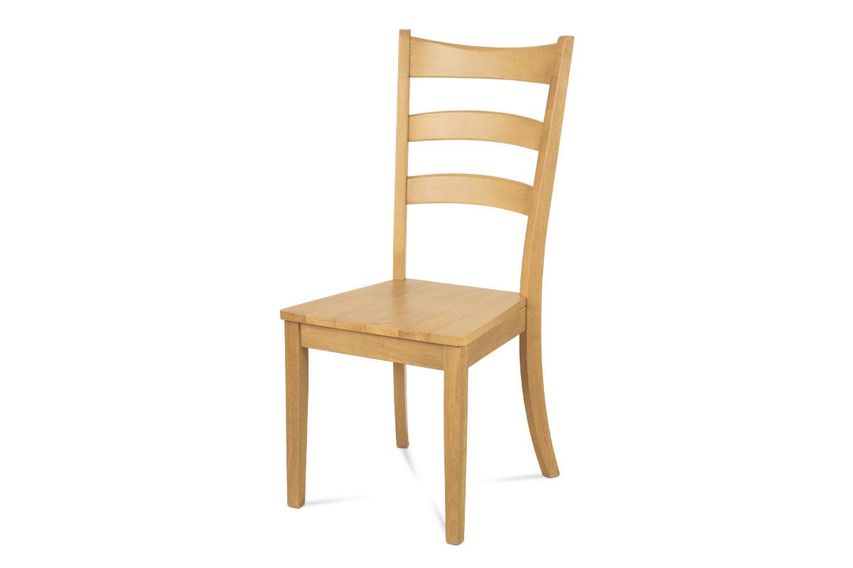 jedálenská stolička celodrevená, farba bielený dub