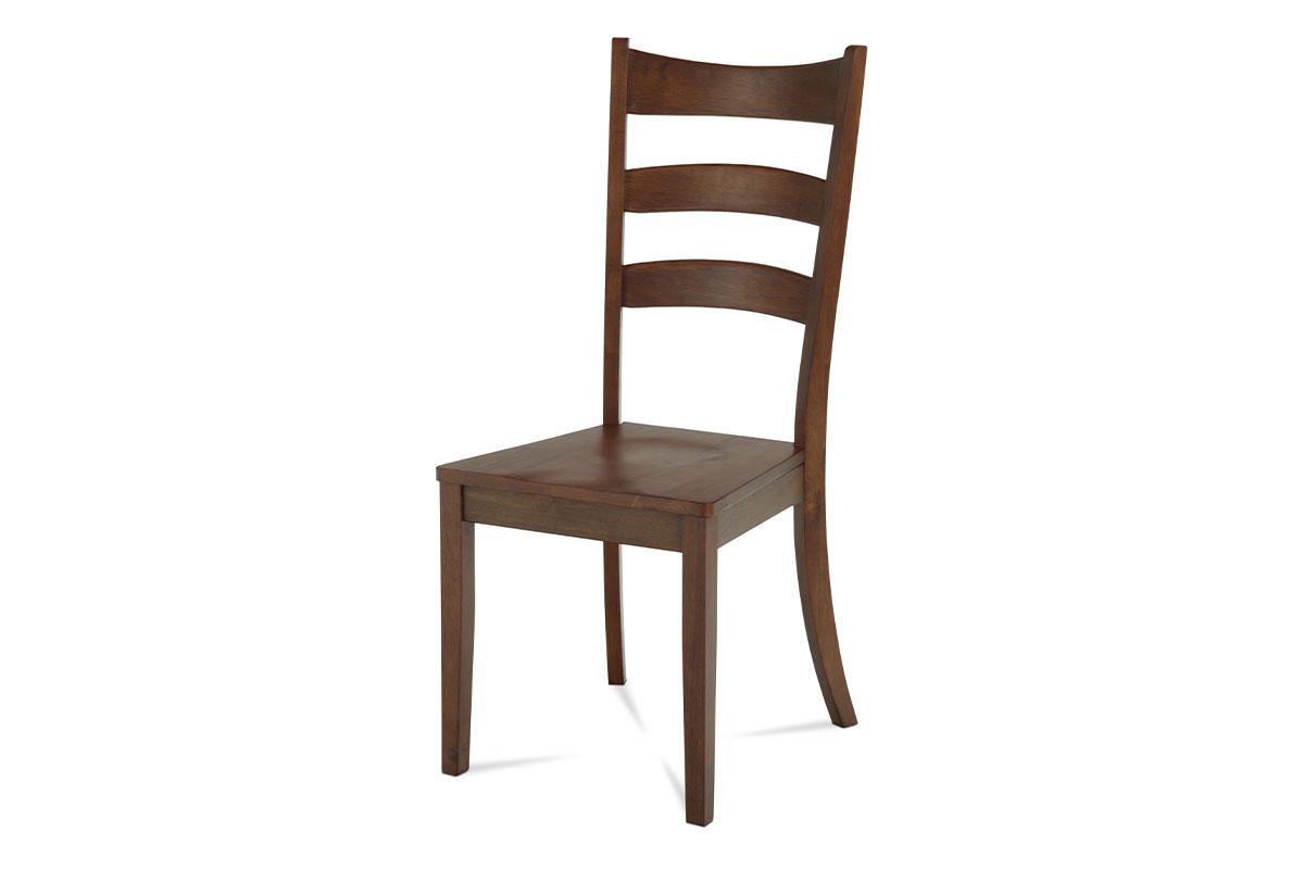 jedálenská stolička celodrevená farba orech