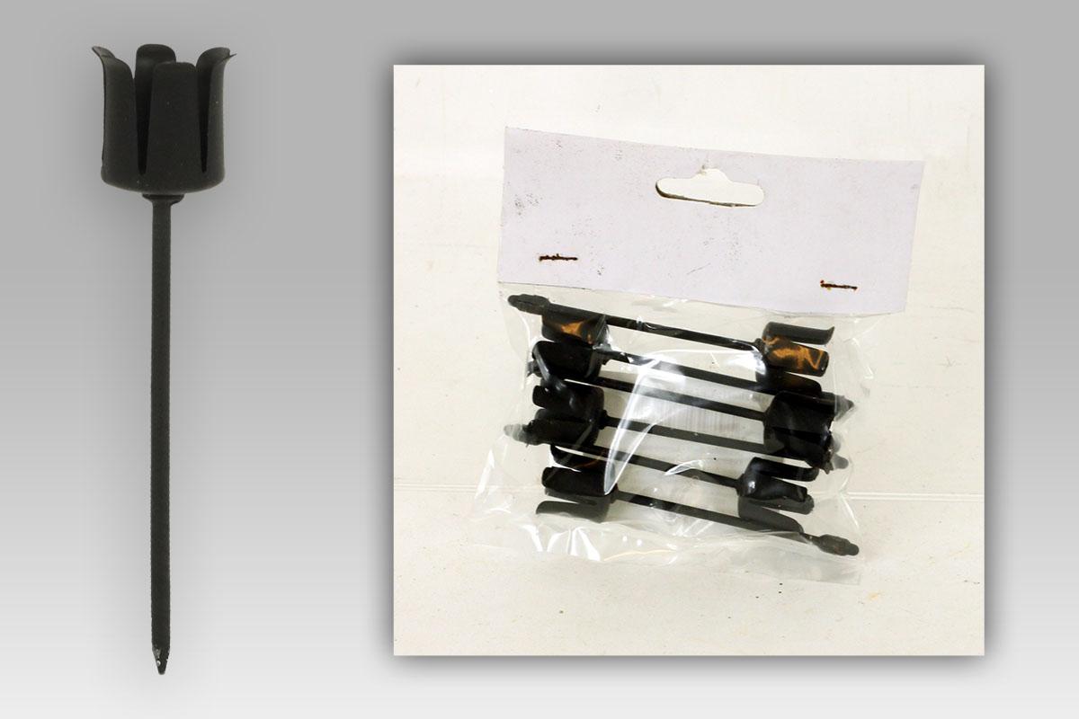 Kovový zápich Sada 6ks, barva černá. Cena za balení.