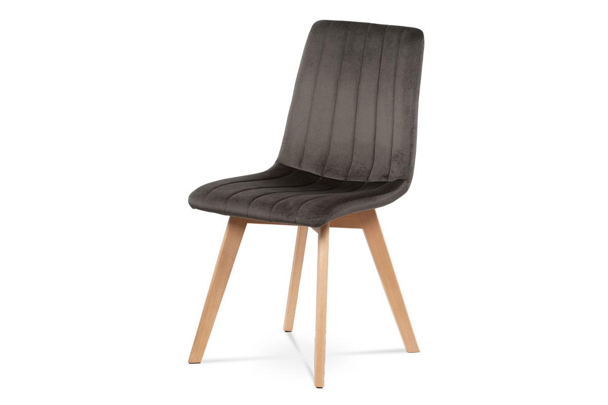 Velvet fabric Dark Grey R23-12, Frame:Beech wood