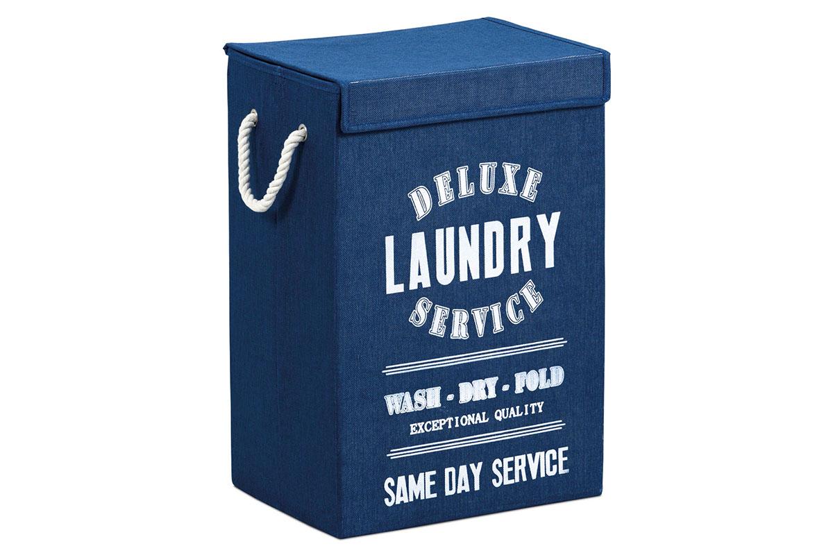 Plátený kôš na prádlo, farba modrá