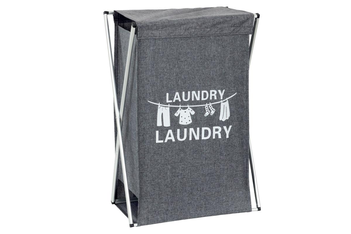 Plátený kôš na prádlo, farba šedá