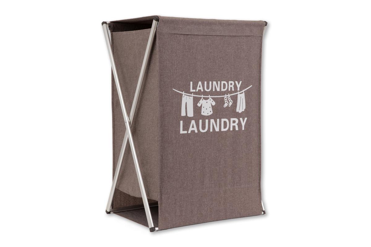 Kôš na prádlo látkový, farba hnedá