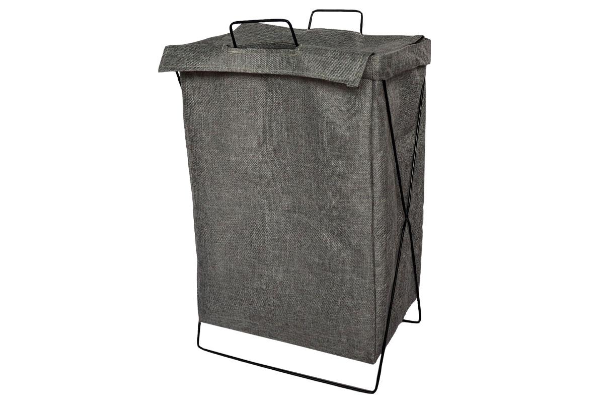 Koš na prádlo plátěný, barva šedivá